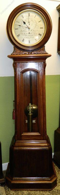 a fine quality Scottish domestic regulator longcase clock by William McKenzie, turriff.