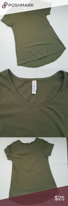 Lularoe Olive Green Classic T As pictured- excellent pre-loved condition. LuLaRoe Tops Tees - Short Sleeve