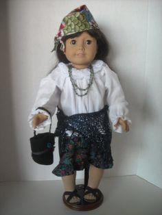 American Girl 18 Doll  Gypsy Costume with Shawl by snorklegranny, $19.95
