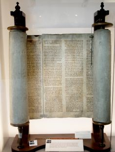 Czech Torah, on display in Room 1 The World That Was