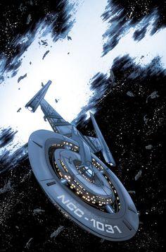 Star Trek Discovery Succession Variant Cover by Declan Shalvey & Jordie Beelaire Nave Enterprise, Star Trek Enterprise, Star Trek Voyager, Star Trek Online, Star Trek 2009, Spock, Star Trek Wallpaper, Galaxy Wallpaper, Loki