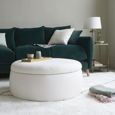 This reminds us of perfectly risen puff pastry in a massive ramekin. It's a family-sized footstool and an extra seat - with a scrummy slice of storage space beneath. Pleated Curtains, Curtains With Blinds, Loaf Furniture, Upholstered Footstool, Curtain Accessories, Comfy Sofa, Guest Bed, Extra Seating, Pot Pie