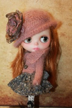 Hat for Blythe Doll by cooperdolls on Etsy