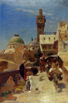 Gustav Bauernfeind - Orientalische Straßenszene