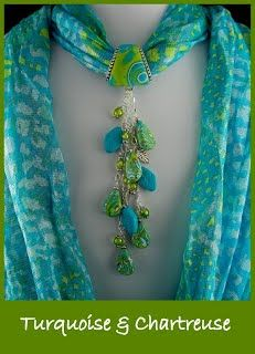 Bufanda Scarf Necklace, Fabric Necklace, Scarf Jewelry, Fabric Jewelry, Diy Necklace, Beaded Jewelry, Necklaces, Jewellery, Polymer Clay Creations