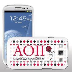 Alpha Omicron Pi Samsung Galaxy S3 White Slim Case - Polka Dot Pattern VictoryStore http://www.amazon.com/dp/B00FG29ZNK/ref=cm_sw_r_pi_dp_m5Y7vb1YY68WK