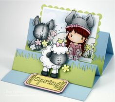 Step card for Easter