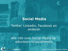 Social Media Webinar by Eduvision Training via slideshare