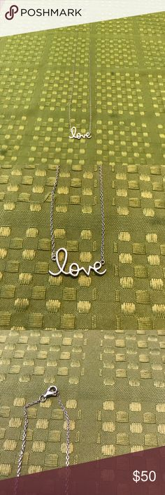 Love Sterling silver necklace So pretty!!! Cursive love necklace Jewelry Necklaces
