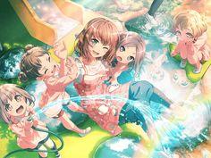 The BanG Dream! Kawaii Girl, Kawaii Anime Girl, Anime Art Girl, Anime Girls, Wonderland, I Love Games, Pastel Palette, Girl Bands, Funny Animal Videos