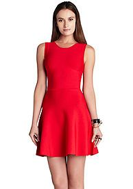 BCBGMAXAZRIA Fit And Flare Dress