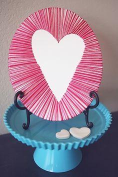 eighteen25: canvas heart art