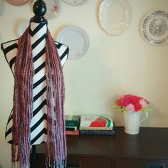 Light Weight  Multi Color Scarf. This loose woven light weight scarf is great accent piece. The burgundy and brown color tone will look great with a pair of dark jeans and a tank top. Accessories Scarves & Wraps