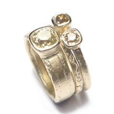 Diana Porter - commission rings made with customers own gold and diamonds