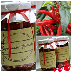 Caseperlatesta - Craft your life Pickled Hot Peppers, Hot Pepper Recipes, Secret Recipe, Stuffed Hot Peppers, Italian Recipes, Handmade Gifts, Cooking, Foods, Gift Ideas
