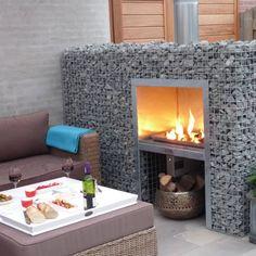 Buitenhaarden : Vuurplaatsen & barbecues van De Vuurtafel Backyard Patio, Backyard Landscaping, Gabion Wall Design, Diy Caravan, O Gas, House Front Design, Garden Spaces, Garden Furniture, Home Interior Design