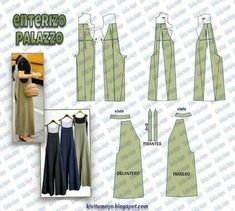 Awesome 50 Sewing tutorials projects are available on our web pages. Take a look and you wont be sorry you did. Sewing Dress, Sewing Pants, Dress Sewing Patterns, Sewing Clothes, Clothing Patterns, Jumpsuit Pattern, Pants Pattern, Fashion Sewing, Diy Fashion