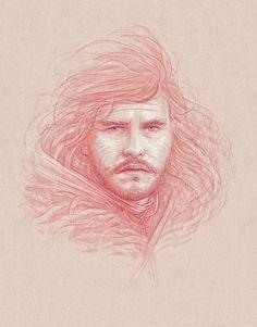 Jon Snow, by Bartosz Kosowski.
