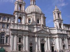 ARCHITETTURA BAROCCA: Chiesa di S. Agnese in Piazza Navona a Roma - Francesco Borromini.