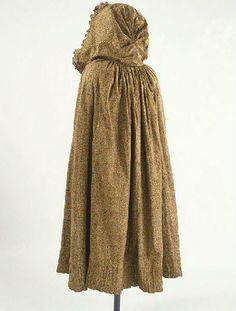 """Cape """"a la Polonaise,"""" cotton, 1810-30."""