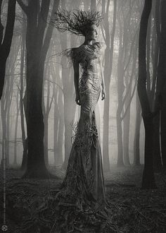 "The Look: Costume design Katarzyna Konieczka (dress) Photography, photomanipulation Jarek ""Khaal"" Kubicki Support Kala Wyroslak - Make Up Artist and Stylist #faerie"