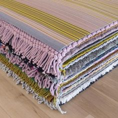 Hella Jongerius combines cork and felt for striped rug collection