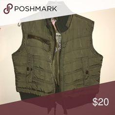 Green vest I hate to let this one go. Green puffer vest. Mossimo Supply Co Jackets & Coats Vests