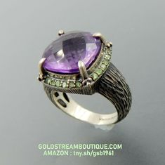 Amazing vintage sterling silver Amethyst and Peridot ring gr size 7 Vintage Silver Jewelry, Sterling Silver Jewelry, Peridot, Amethyst, Jewelry Collection, Gemstone Rings, Antiques, Amazing, Ebay