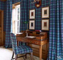 Canterbury   Suzanne Kasler Modern Cottage Style, Victorian Cottage, Vintage Sofa, Neutral Colour Palette, Reception Rooms, Elle Decor, Modern Classic, Tartan, House Design