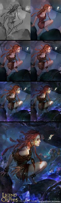 After shaking Sang collected Painting figure) _ petal illustration / Comics Digital Painting Tutorials, Digital Art Tutorial, Art Tutorials, Process Art, Painting Process, Painting & Drawing, Painting Steps, Paint Photoshop, Art And Illustration