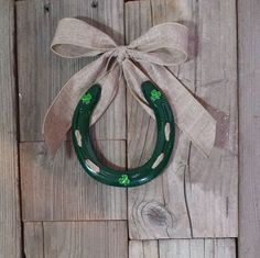 Just listed!  Save 10%  Use Code:  PINTEREST10 https://www.etsy.com/listing/269917797/st-patricks-day-decorated-horseshoe-for #decoratedhorseshoes #etsy #horseshoes #horses