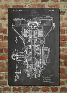 Henry Ford Transmission Patent Wall Art Poster This patent poster is printed on 90 lb. Cardstock paper. Choose between several paper styles and