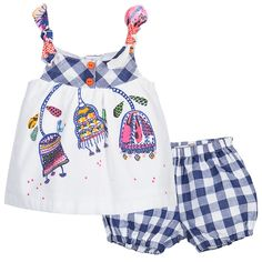 Catimini Baby Girls 2 Piece Cotton Shorts Set at Childrensalon.com
