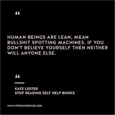 """Book of the week time 'Stop Reading Self Help Books' by Kate Lester #girlboss #vision #career #inspiration #quote #motivation"""