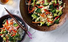 "Raw Cauliflower Stir Fry - You'll be a fully raw convert after feasting on this zesty, crunchy, flavorful ""stir no-fry. Delicious Vegan Recipes, Raw Food Recipes, Veggie Recipes, Vegetarian Recipes, Healthy Recipes, Ketogenic Recipes, Healthy Salads, Healthy Eats, Dinner Recipes"