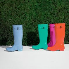 Our Original Tall Gloss Wellington boot. Now available in a high-shine finish and a range of colours on www.hunter-boot.com