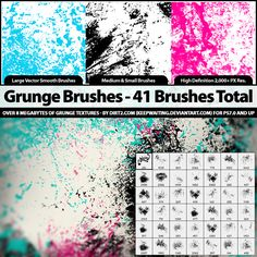 41 Grunge Brushes - PS7 by KeepWaiting.deviantart.com