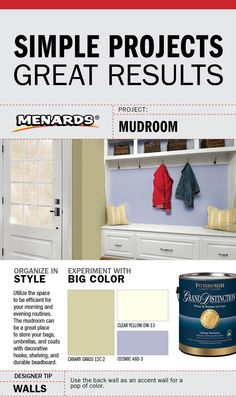 Simple Projects. Great Results. Mudroom DIY. #MyMenardsDIY