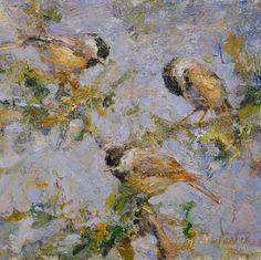 "Derek Penix | ""Chickadees"" | Small Works | Gallery 1261 :: Denver, Colorado"