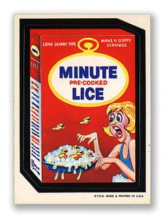 Wacky Packages Topps 1st Series: Minute Lice