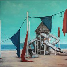 Original Fantasy Painting by Gamze Olgun Oil On Canvas, Canvas Art, Fantasy Paintings, Realism Art, Sailing Ships, Saatchi Art, Original Paintings, Outdoor Decor, Artist