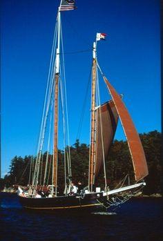 Schooner at Maine Maritime Museum in Bath.