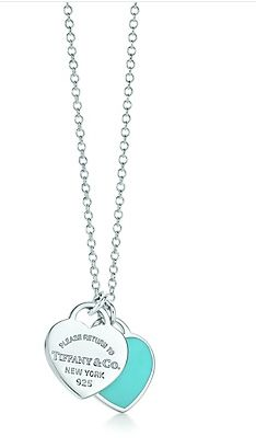 7e5b3c840a7 Mini Double Heart Tag Pendant. Colar TiffanyTiffany And Co NecklaceTiffany  ...