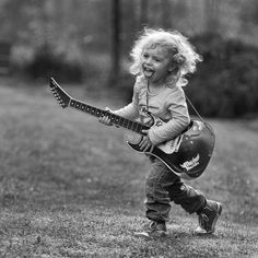 Teach them young that life is best spent with a guitar in hand!