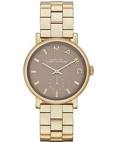 Marc by Marc Jacobs Women's Baker Gold-Tone Stainless Steel Bracelet Watch 36mm MBM3281. Birthday Present cough cough