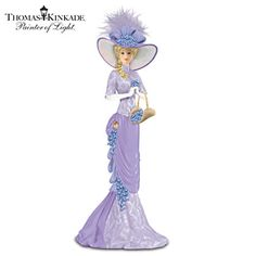 Thomas Kinkade Alzheimer's Research Support Lady Figurine