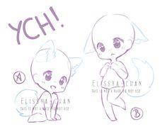 YCH! Single Chibis by Elissya-chan.deviantart.com on @DeviantArt
