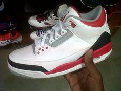 Air jordan Retro 3 Fire red Colorway