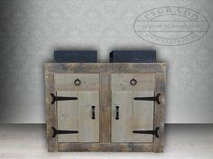 badkamermeubel / wastafel van steigerhout