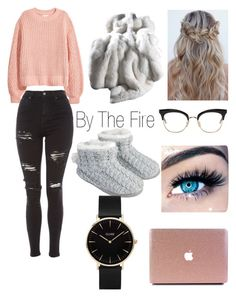 """By The Fire"" by stylistgirl329 on Polyvore featuring H&M, Topshop, Thom Browne, Accessorize, MINX and CLUSE"